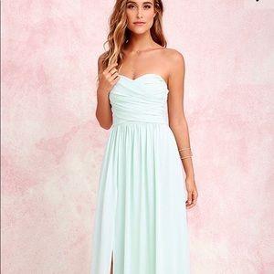 Lulus long grey dress